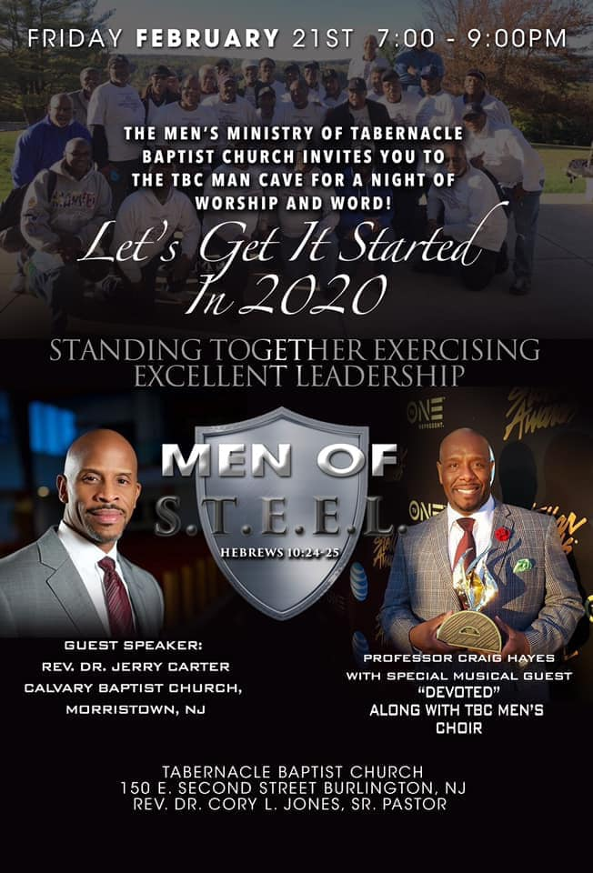 Men's Night of Worship and the Word: Friday, February 21st